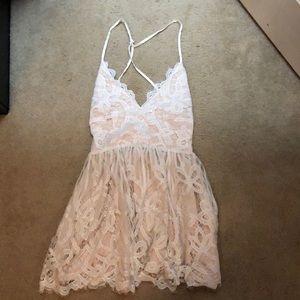 Tobi White Lace Dress